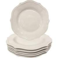 Better Homes and Gardens Scalloped Dinner Plates, White ...
