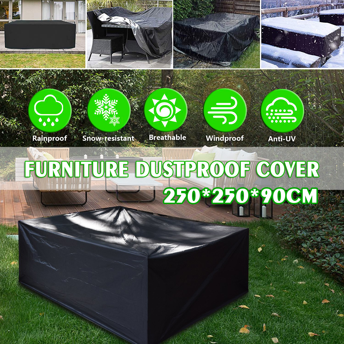 outdoor sectional sofa patio furniture cover 210d oxford cloth water resistant outdoor furniture cover fits rectangular oval patio tables 98 l x