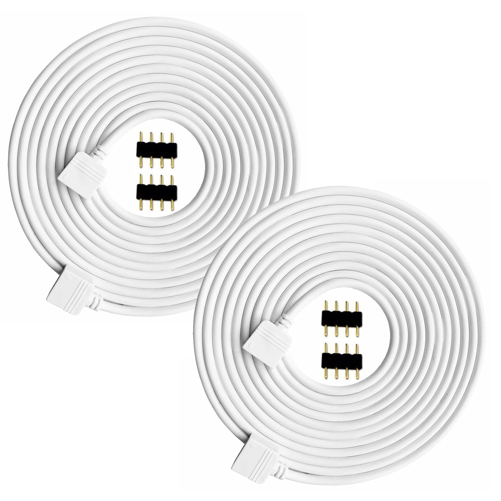 2 Pack 5m 16 5ft Extension Cable Connect Female Plug To