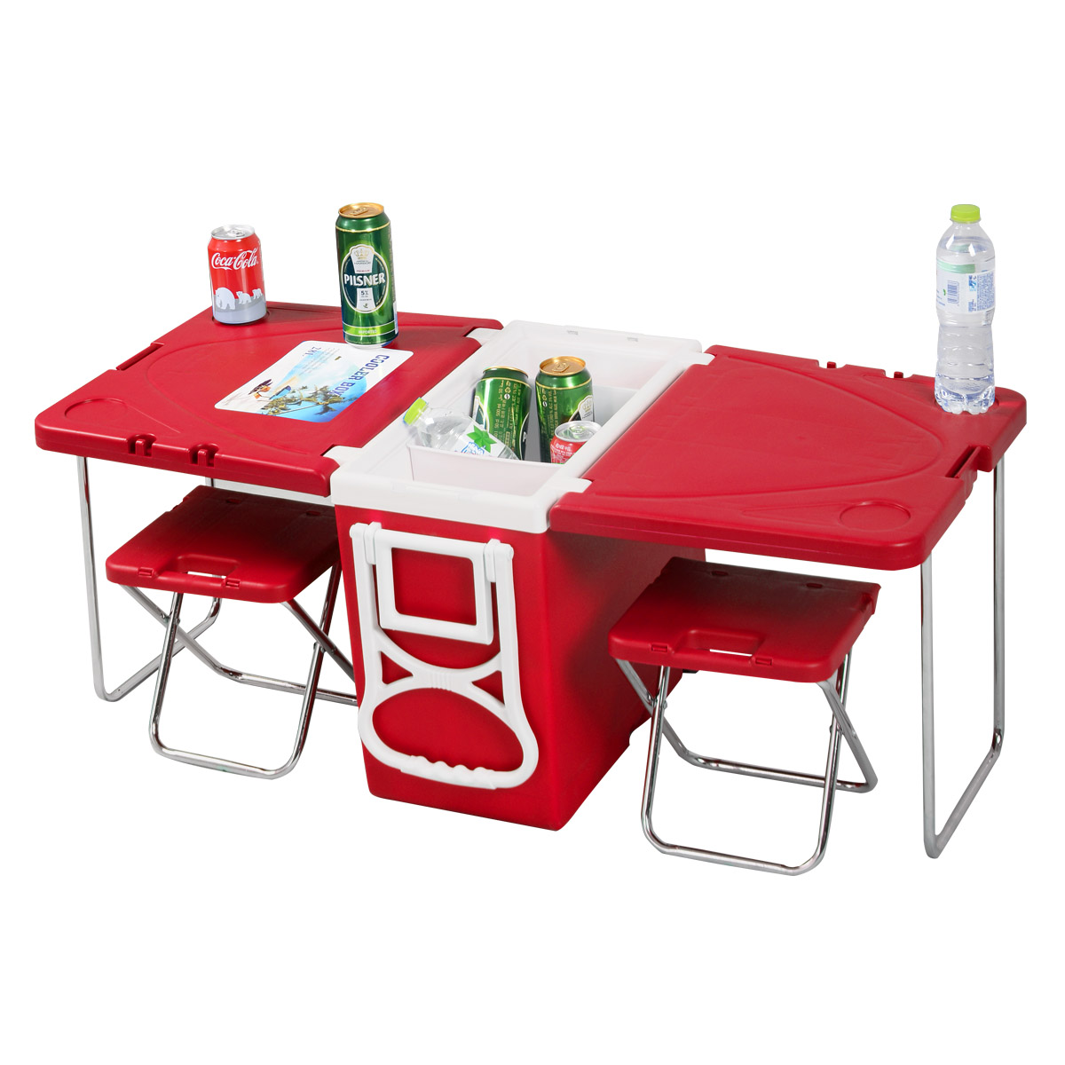 Chair Cooler Multi Functional Rolling Picnic Cooler 43 Table 432 Chairs