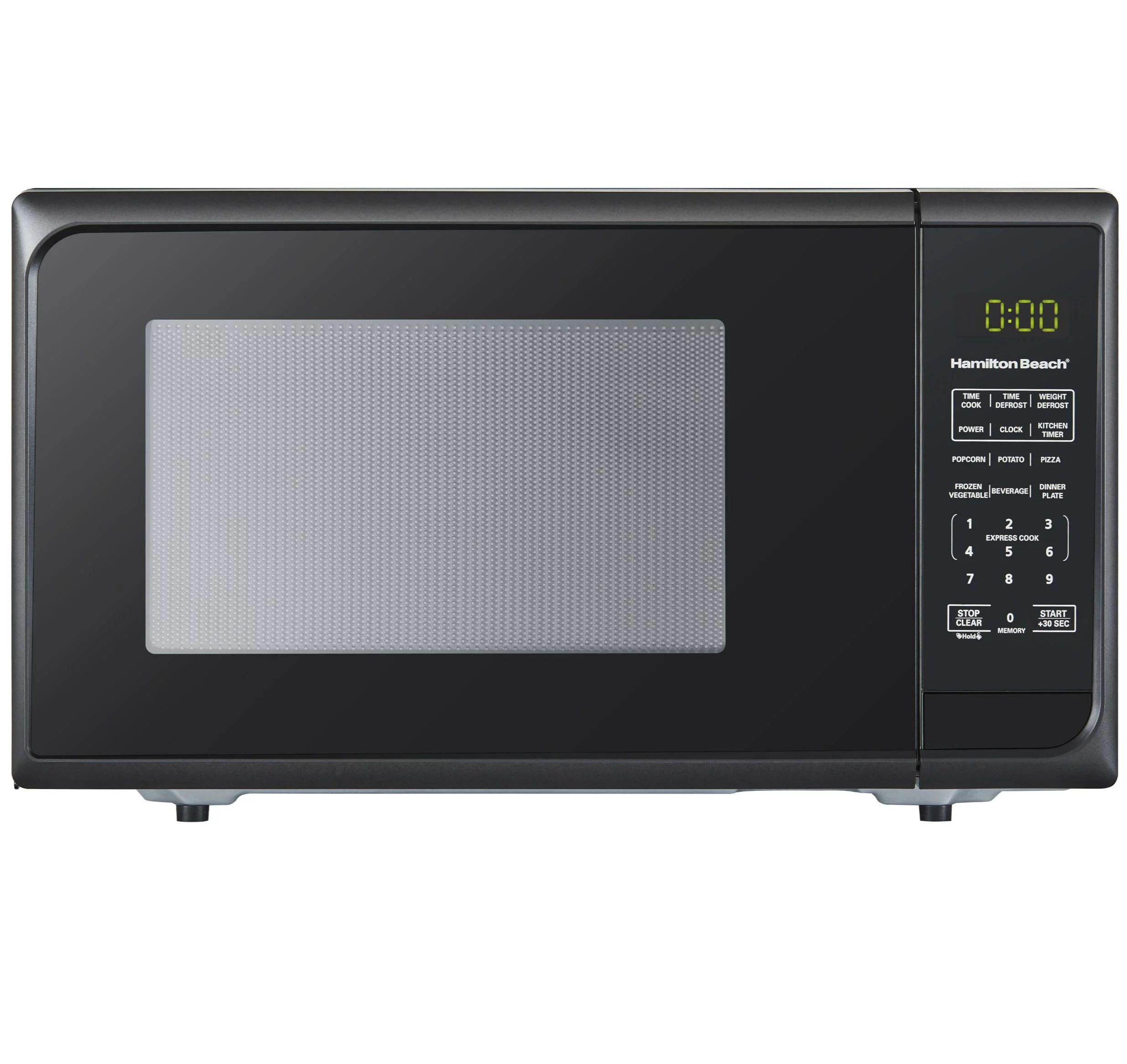 hamilton beach 0 9 cu ft matte black microwave oven