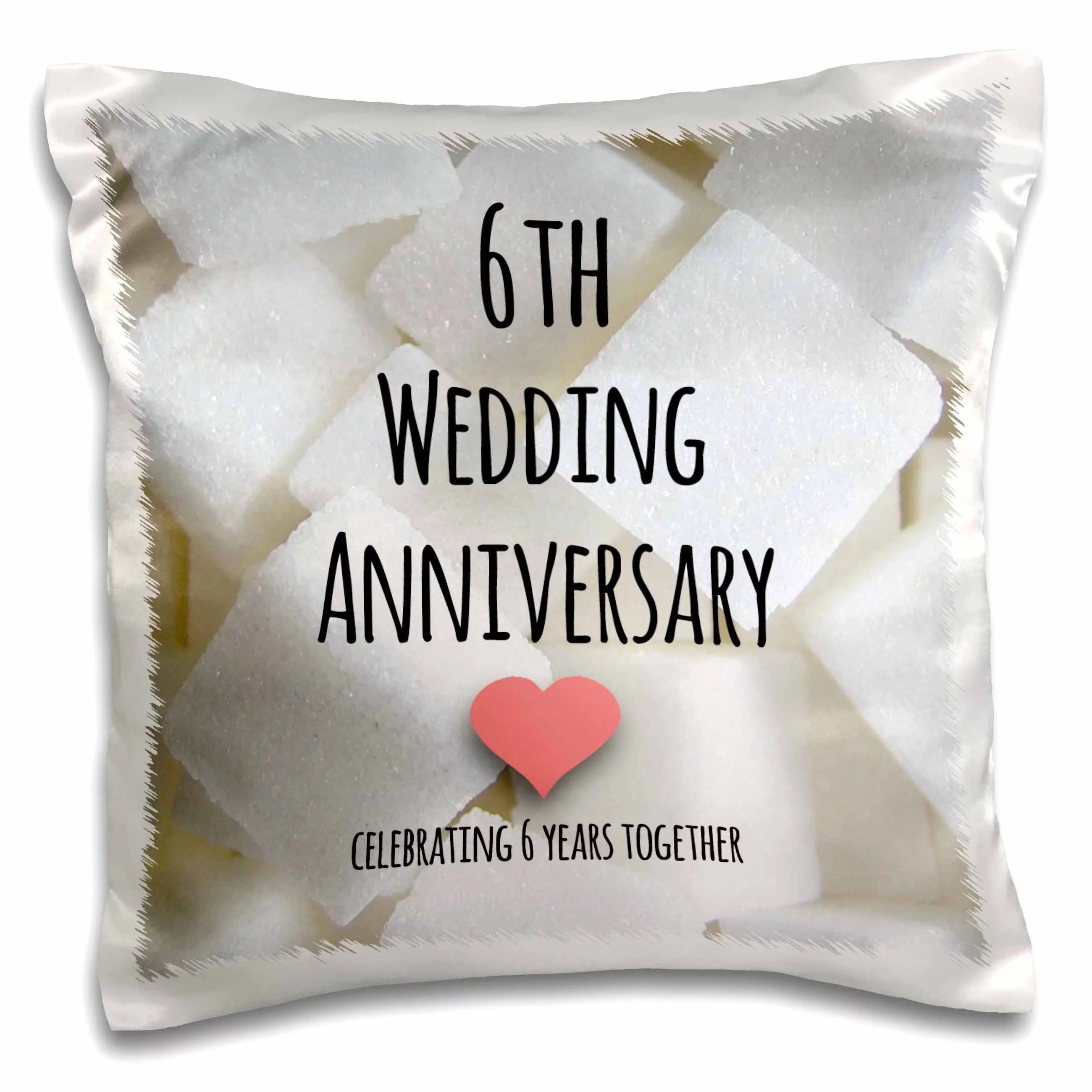 3dRose 6th Wedding Anniversary gift  Sugar celebrating 6
