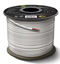 14 gauge cl2 ofc speaker wire gearit pro series 14awg 100 feet 30 48 meters white oxygen free copper ul cl2 rated in wall speaker wire cable for home  [ 2500 x 2500 Pixel ]