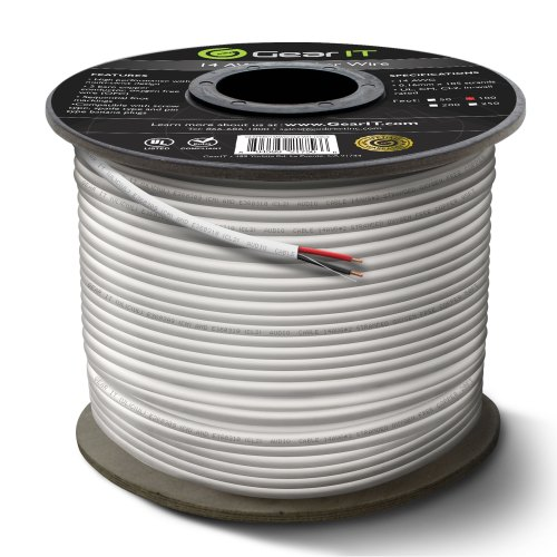 small resolution of 14 gauge cl2 ofc speaker wire gearit pro series 14awg 100 feet 30 48 meters white oxygen free copper ul cl2 rated in wall speaker wire cable for home