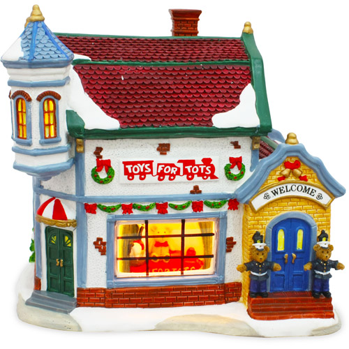 Toys For Tots Building Christmas Village Figurine Piece