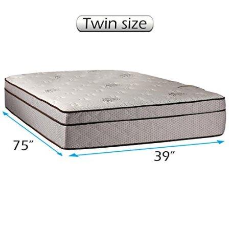 Fifth Ave Plush Foam Encased Eurotop Pillow Top Mattress Only Twin 39