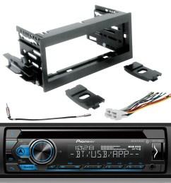 pioneer dehs4100bt single din cd usb aux bluetooth spotify stereo scosche gm1483b dash kit gm02b radio wiring harness enrock antenna adapter fits 95 02  [ 1600 x 1600 Pixel ]