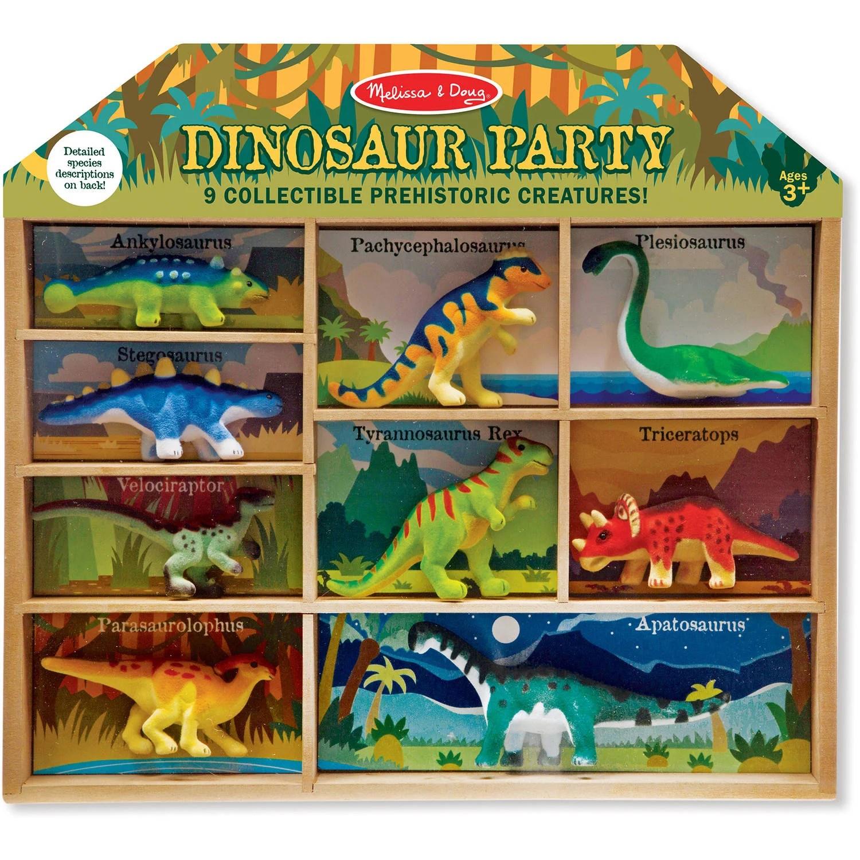 Melissa  Doug Dinosaur Party Play Set 9 Collectible