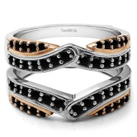 TwoBirch - TwoBirch Infinity Bypass Engagement Ring Guard ...