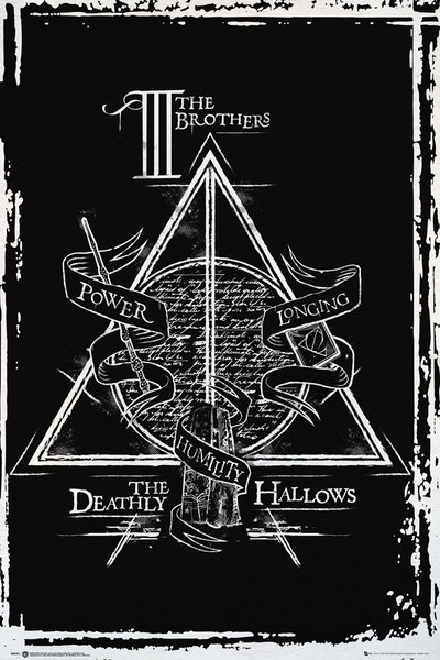 harry potter and the deathly hallows movie poster print the deathly hallows symbol size 24 x 36