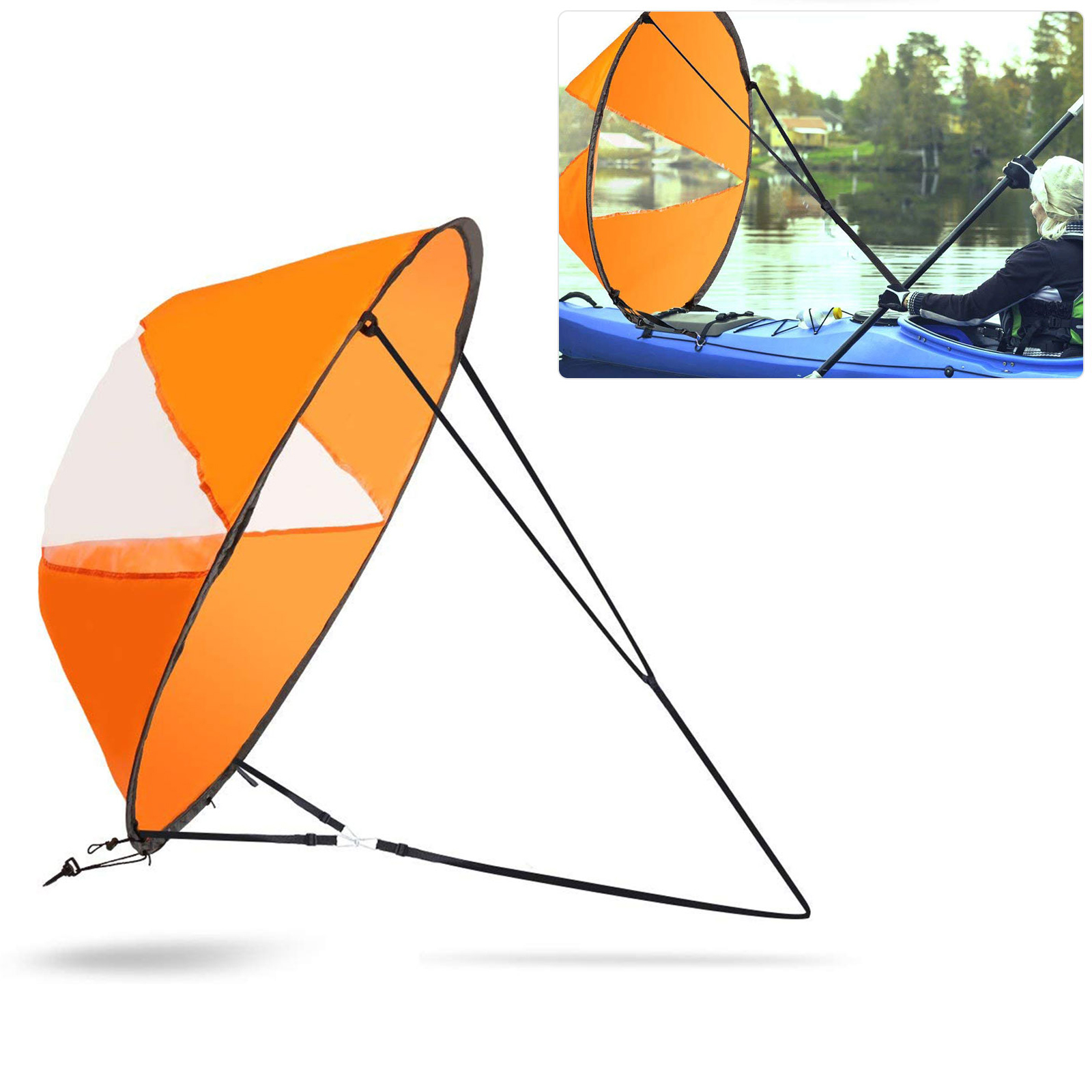 hight resolution of eeekit 42 kayak boat wind sail foldable kayak wind paddle kit sup sailboat paddle board sailing windpaddle canoe instant sail accessories durable surfing