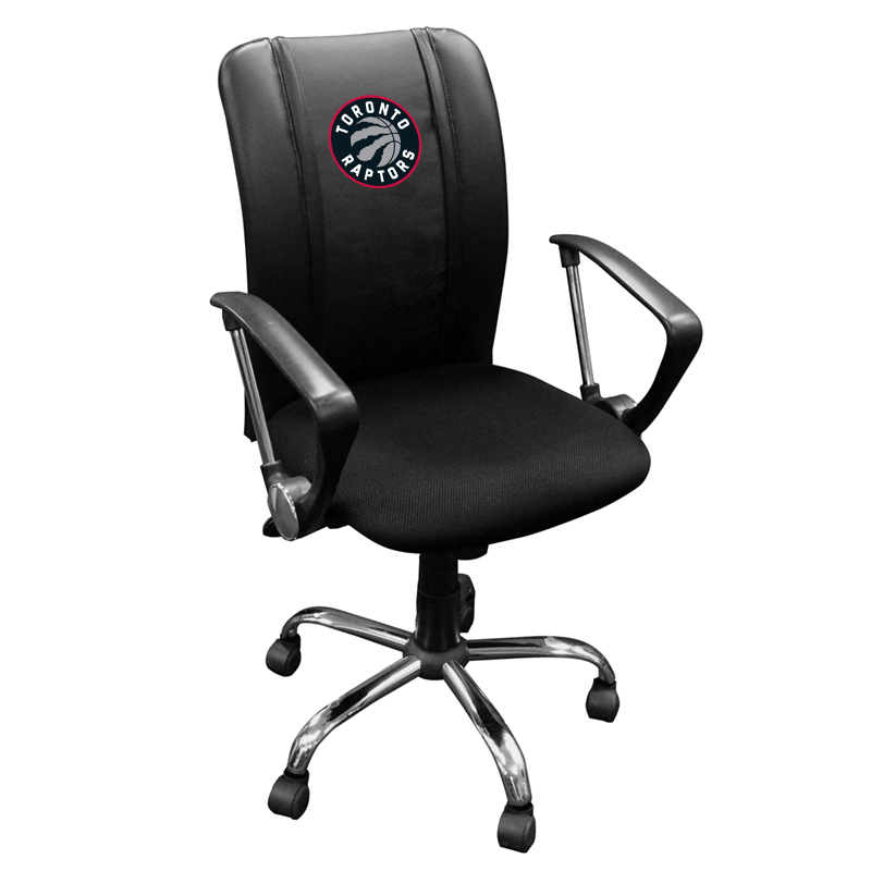 office chair toronto resin lounge raptors nba curve task with logo panel walmart com