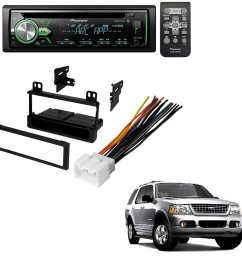 ford 1995 2005 explorer all models car radio stereo radio kit dash installation mounting wiring harness w pioneer deh x4900bt vehicle cd digital music  [ 1266 x 1254 Pixel ]