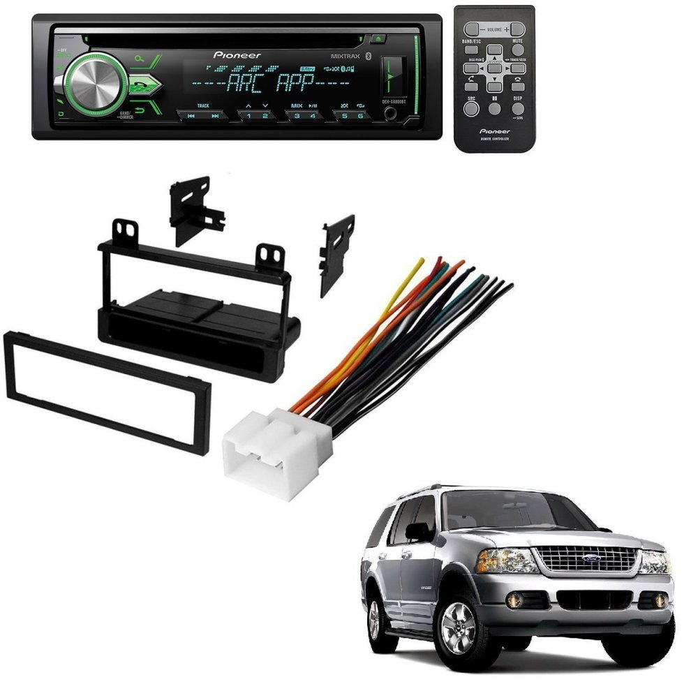 medium resolution of ford 1995 2005 explorer all models car radio stereo radio kit dash installation mounting wiring harness w pioneer deh x4900bt vehicle cd digital music