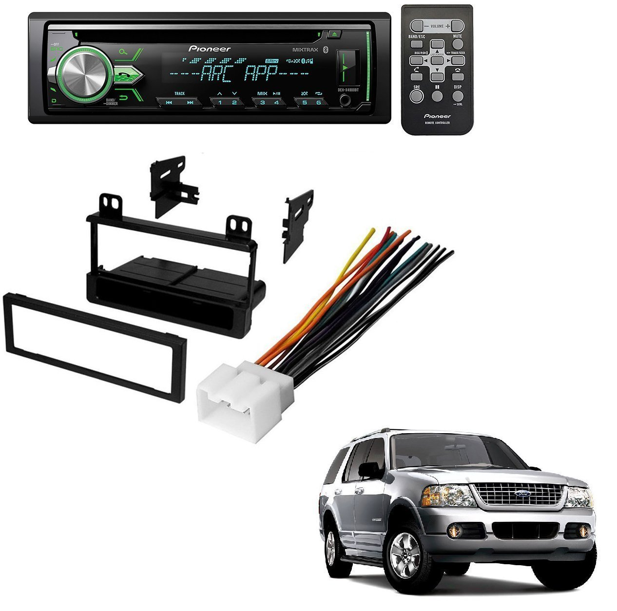 hight resolution of ford 1995 2005 explorer all models car radio stereo radio kit dash installation mounting wiring harness w pioneer deh x4900bt vehicle cd digital music
