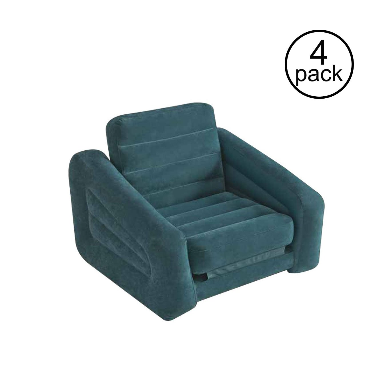 intex inflatable pull out chair twin bed wooden rocking seat and air mattress sleeper 4 pack walmart com