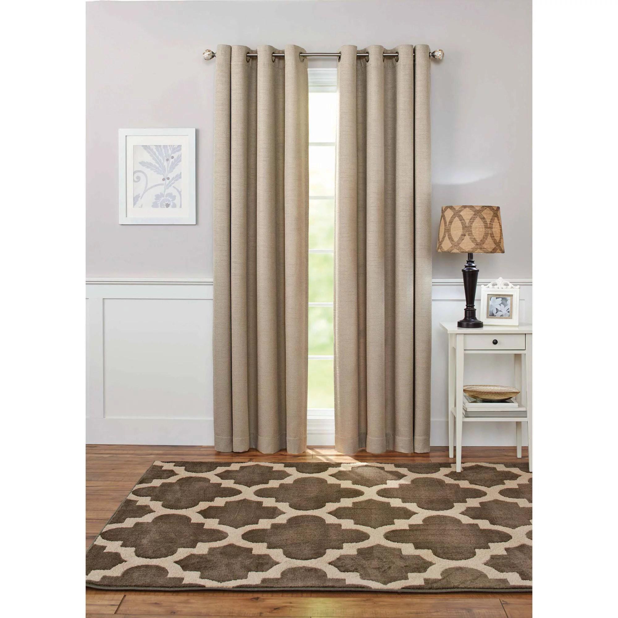 better homes and gardens basketweave curtain panel walmart com