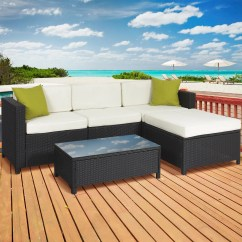 Palermo Rattan Effect Corner Sofa Set Cover Semi Circle Chair Outdoor Sectionals Walmart Com Product Image Best Choice Products 5 Piece Modular Wicker Patio Sectional W Glass Tabletop