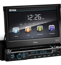 boss audio bv9979b single din dvd cd receiver with 7 digital tft monitor and bluetooth [ 1001 x 1001 Pixel ]