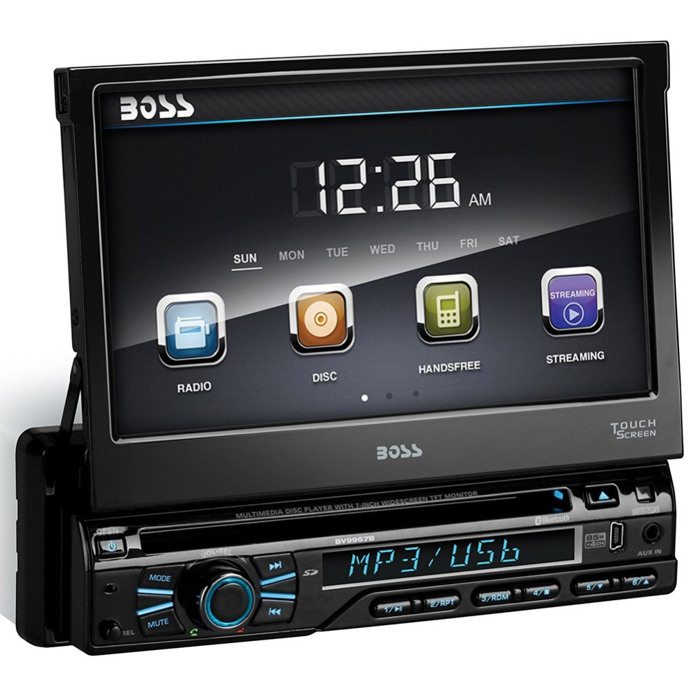 medium resolution of boss audio bv9979b single din dvd cd receiver with 7 digital tft monitor and bluetooth