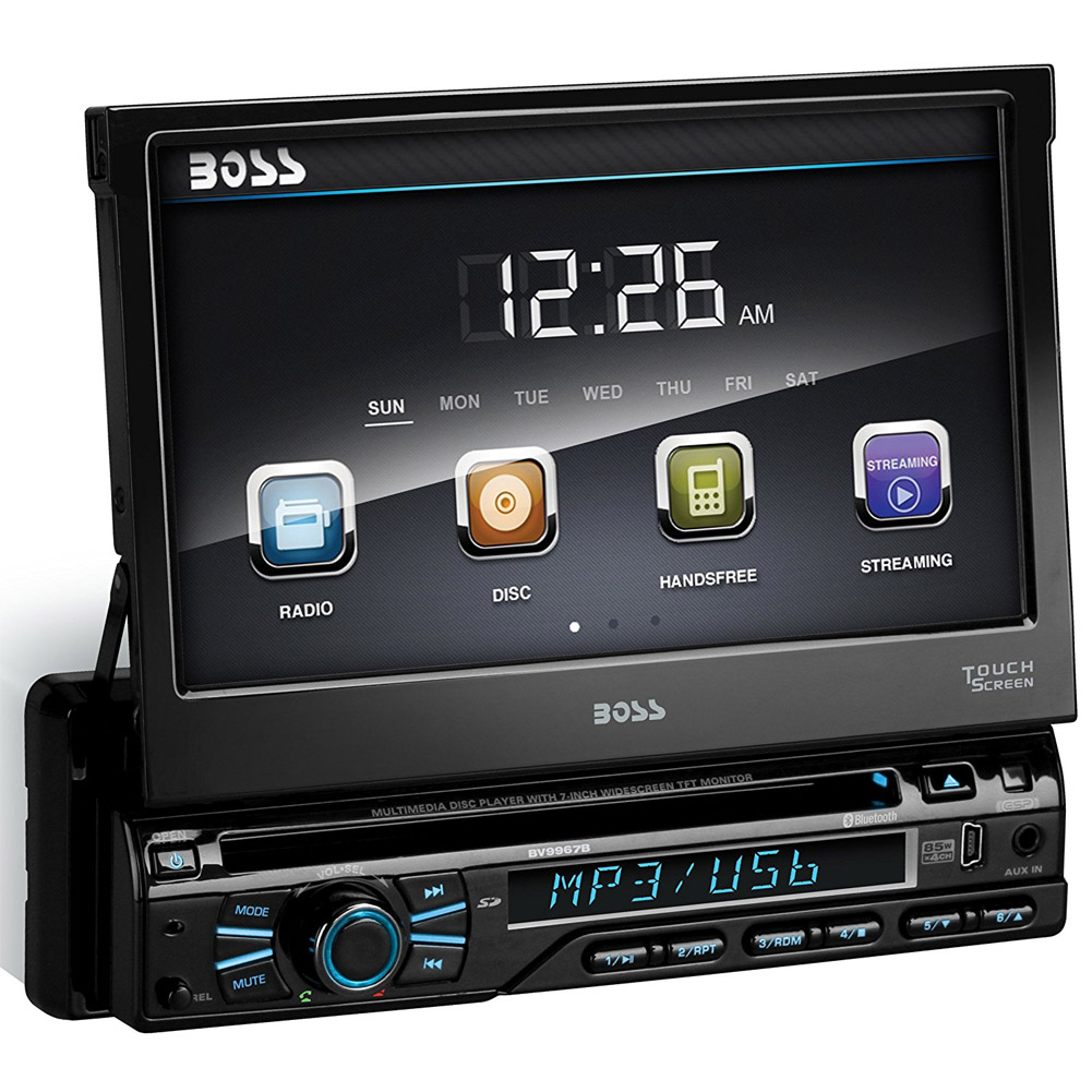 hight resolution of boss audio bv9979b single din dvd cd receiver with 7 digital tft monitor and bluetooth