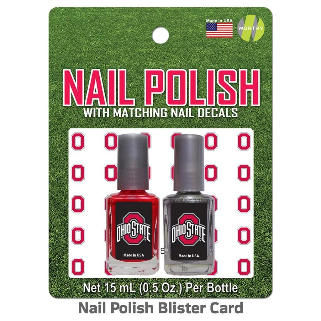 ohio state university nail polish