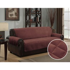 Quilted Microsuede Sofa Cover Sunflower Brown Chaise Furniture Protector Pet 70 X 110 This Button Opens A Dialog That Displays Additional Images For Product With The Option To Zoom In Or Out