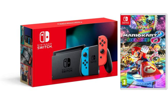 Nintendo Switch Neon Console New 2019 Version With Mario