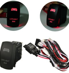 rocker switch wiring harness 12v 40a 300w relay fuse led light bar 5 pin laser matcc [ 1200 x 1200 Pixel ]