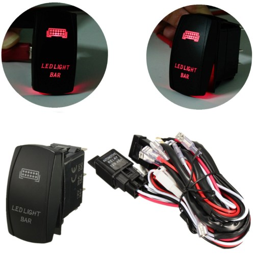small resolution of rocker switch wiring harness 12v 40a 300w relay fuse led light bar 5 pin laser matcc