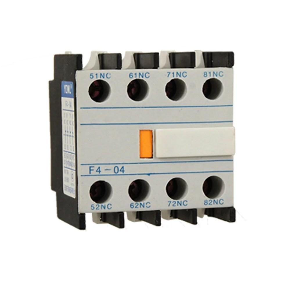 medium resolution of unique bargains contact relay auxiliary 4 nc contactor circuit breaker walmart com
