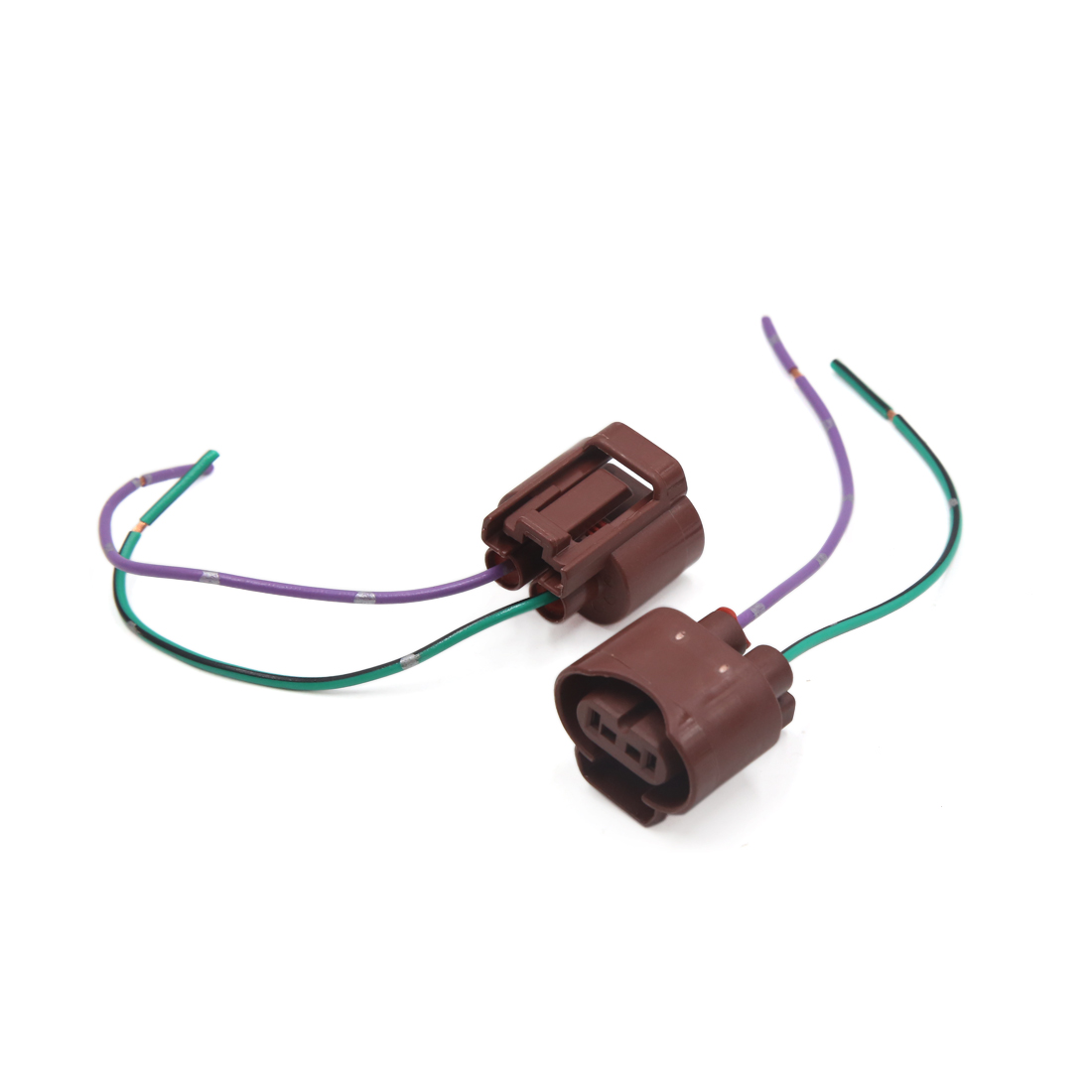 2pcs 9006 foglight lamp bulb extension wire harness socket connector [ 1100 x 1100 Pixel ]