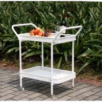 Wicker Lane Outdoor Wicker Patio Furniture Serving Cart ...