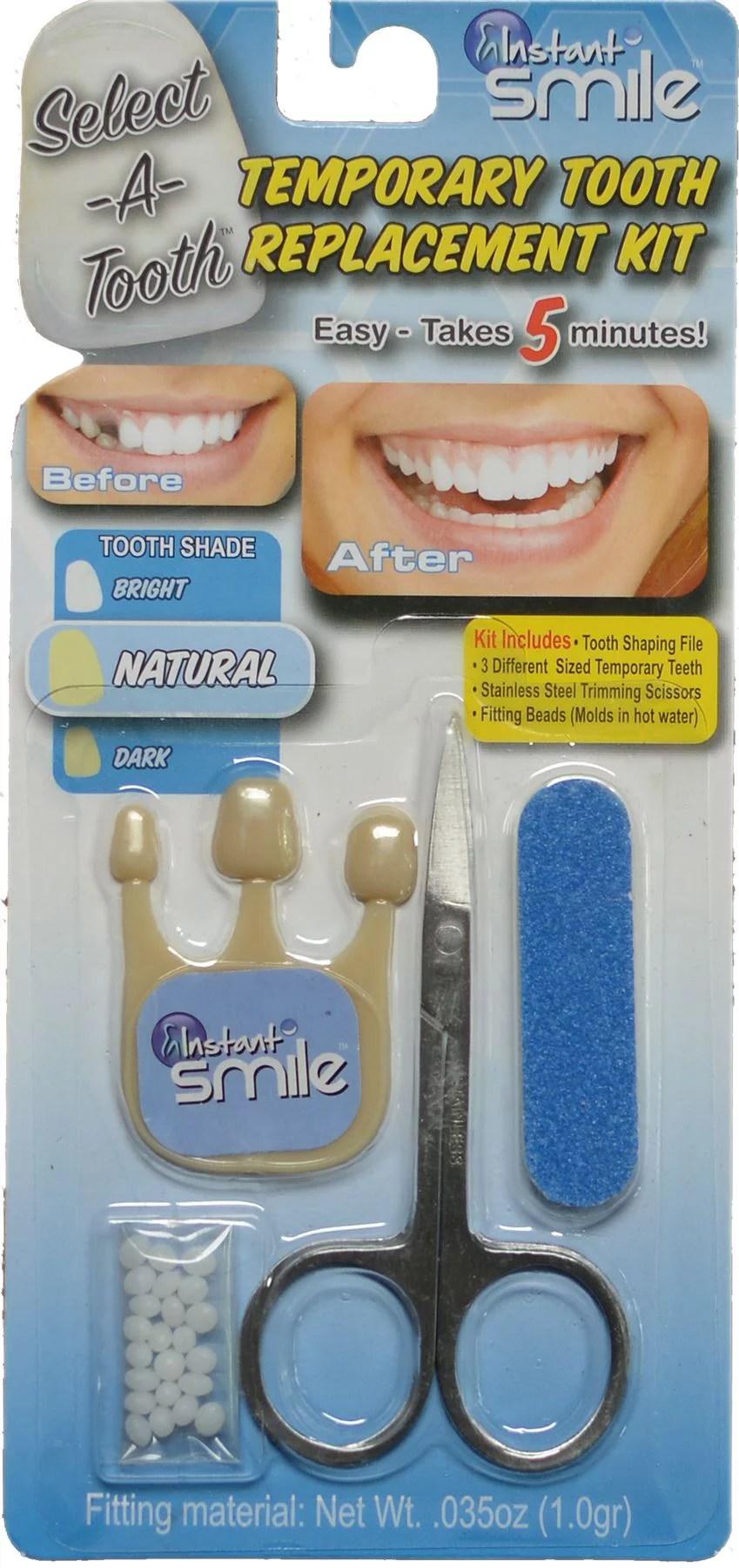 Tooth Repair Kit Walmart : tooth, repair, walmart, Instant, Smile, Select, Tooth, Temporary, Replacement, Natural, Walmart.com