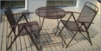 Bistro set Patio Set 3pc Table & Chairs Outdoor Furniture ...