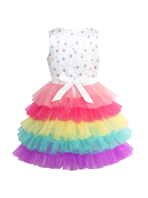 Walmart Specialty Cakes : walmart, specialty, cakes, Sunny, Fashion, Girls, Dress, Birthday, Princess, Rainbow, Balloon, Years, Walmart.com