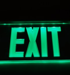 nicor lighting edge lit led emergency exit sign mirrored with green lettering exl2 10unv al mr g 2 walmart com [ 3425 x 2361 Pixel ]
