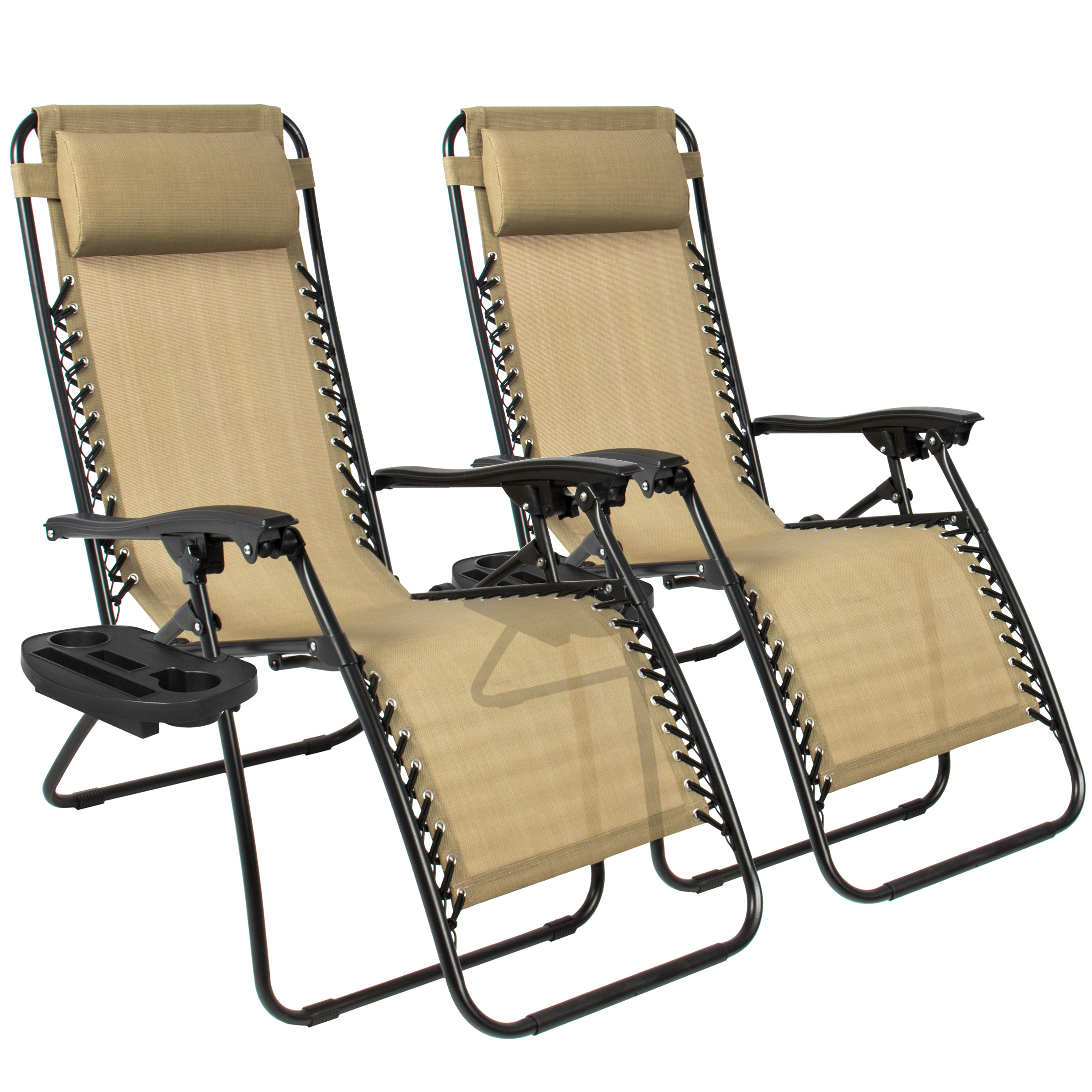 zero gravity chairs case of tan lounge patio chairs outdoor yard beach new