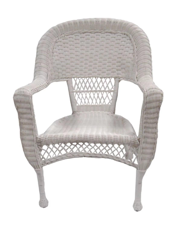 37 white resin wicker patio dining arm chair walmart com