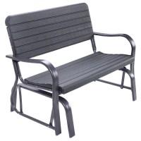 Costway Outdoor Patio Swing Porch Rocker Glider Bench ...