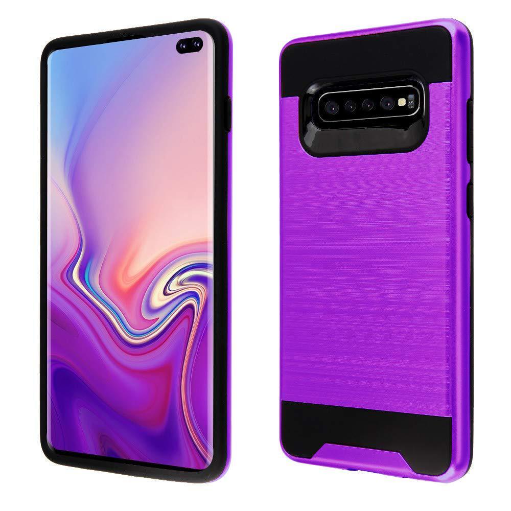 Samsung Galaxy S10 5G Hybrid Metal Brushed Shockproof Tough Case Cover Purple - Walmart.com - Walmart.com