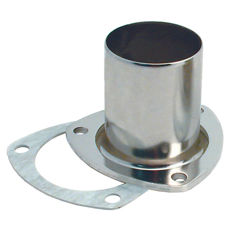 spectre industries 4642 exhaust header reducer 3 bolt flange 2 1 2 inch collector 2 1 4 inch diameter exhaust pipe compressed ceramic fiber