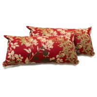 Red Floral Outdoor Throw Pillows Set of 2 - Walmart.com