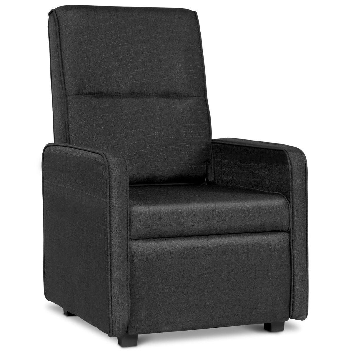 single sofa chair diy frame plans gymax manual foldable back lounger linen qty