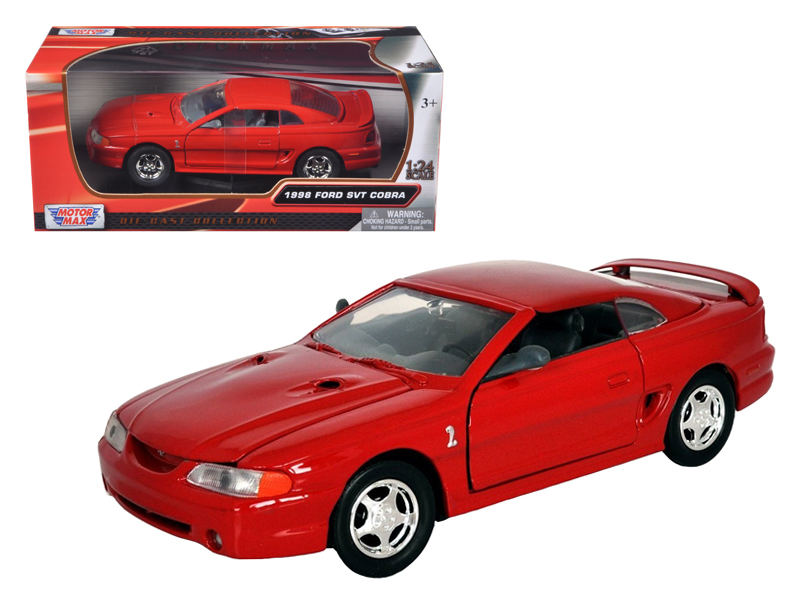 1998 Ford Mustang SVT Cobra Red 1/24 Diecast Car Model by ...