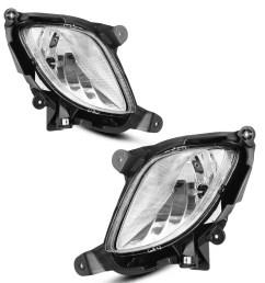 for 2010 2012 hyundai genesis coupe clear bumper fog light lamps w wiring switch 1 year warranty walmart com [ 1100 x 1100 Pixel ]