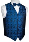 Best Tuxedo Men S Formal Prom Wedding Tuxedo Vest Bow Tie Hankie Set In Royal Blue Paisley Walmart Com Walmart Com - Wedding Tuxedo, Men S 2 Button Royal Blue Wedding Tuxedo Suit