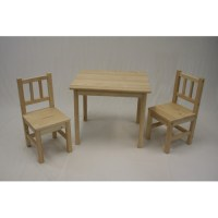 eHemco Kids 3 Piece Table and Chair Set - Walmart.com