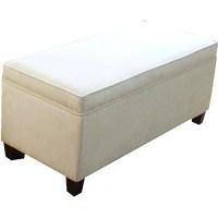 HomePop End of Bed Storage Bench, Cream - Walmart.com