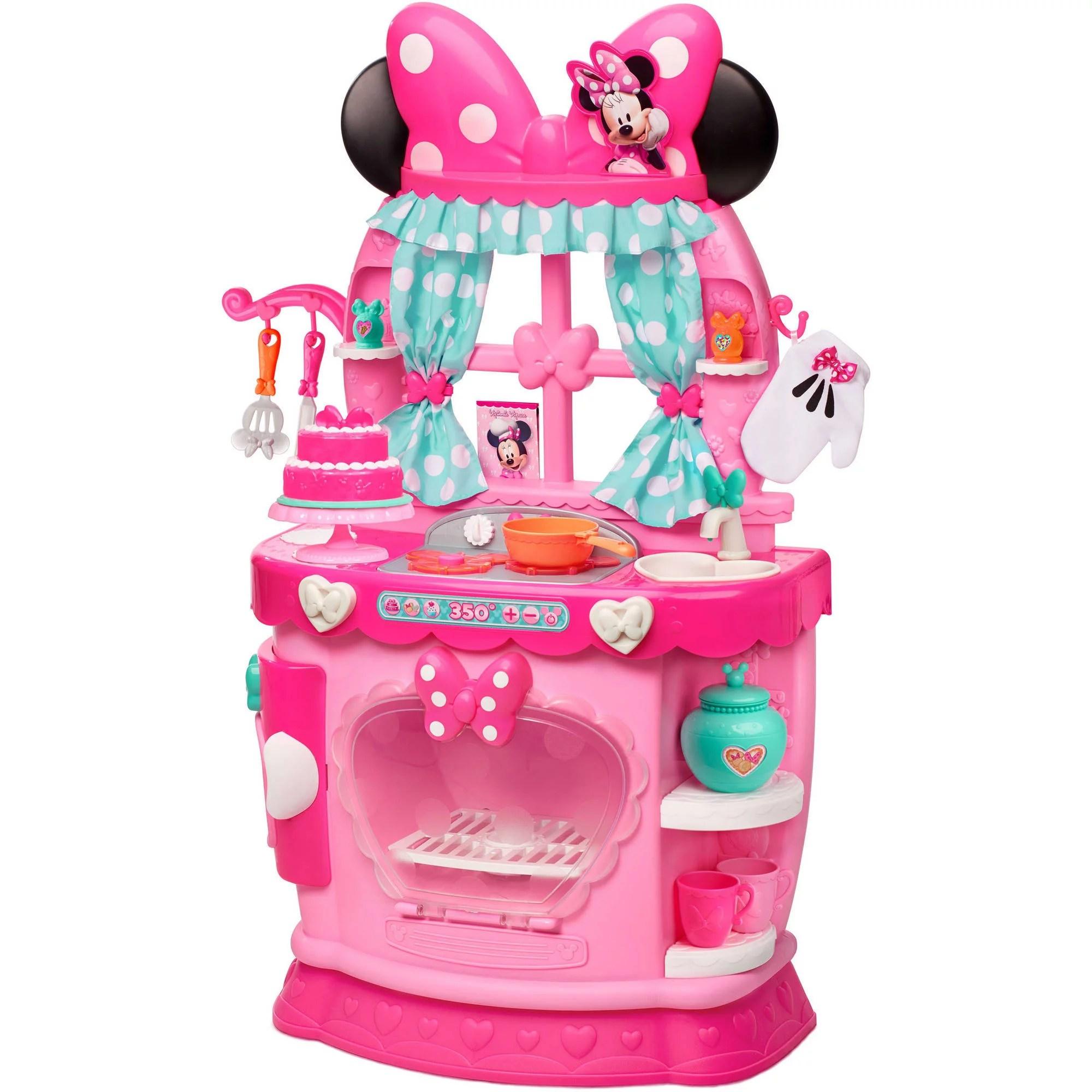 little girl kitchen sets fisher price loving family disney minnie bow tique sweet surprises walmart com